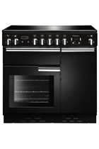 Rangemaster Professional Plus PROP90EIGB/C 90cm Black Electric Range Cooker with Induction Hob