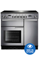 Rangemaster Professional Plus PROP90EISS/C 90cm Stainless Steel Electric Range Cooker with Induction Hob