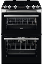 Zanussi ZCI66278XA 60cm Stainless Steel Double Oven Electric Cooker