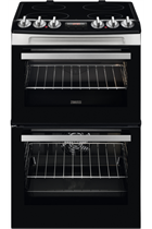 Zanussi ZCV46250XA 55cm Stainless Steel Double Oven Electric Cooker
