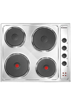Candy CLE64X 60cm Stainless Steel Built-In Solid Plate Hob