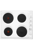 CANDY WHITE SOLID PLATE ELECTRIC HOB SIDE CONTROLS