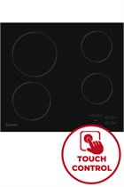 Indesit Aria RI161C 58cm Black Built-In Ceramic Hob