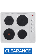 Montpellier SP601X 60cm Stainless Steel Built-In Soild Plate Hob