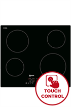 NEFF N50 T10B40X2 59cm Black Built-In Ceramic Hob