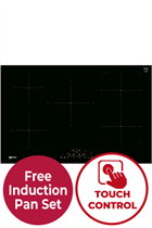NEFF N70 T48FD23X2 80cm Black Built-In Induction Hob