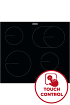 Zanussi ZHRX643K 59cm Black Built-In Ceramic Hob