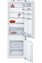 NEFF N70 KI6873F30G Integrated 54cm White 70/30 Fridge Freezer