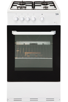 Beko BCSG50W Freestanding Gas Cooker with Integral Grill