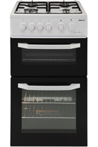 Beko BDG581NW White Twin Cavity Gas Cooker