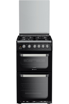 Hotpoint HUG52K Black Double Oven Gas Cooker