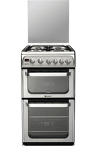 Hotpoint HUG52X Double Oven Gas Cooker with Full Width Grill