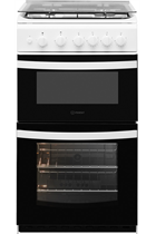 Indesit Cloe ID5G00KMWL 50cm White Twin Cavity Gas Cooker