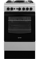 Indesit Cloe IS5G1PMSS 50cm Silver Single Cavity Gas Cooker