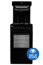 Beko KA52NEK 50cm Black Gas Cooker with High Level Grill