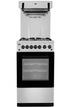 Beko KA52NES 50cm Silver Gas Cooker With High Level Grill
