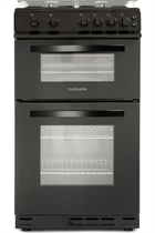 Montpellier MDG500LK 50cm Black Double Oven Gas Cooker