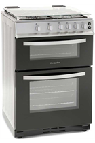 Montpellier MTG60LS Twin Cavity Gas Cooker in Silver