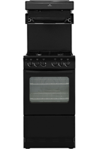 New World NW50THLGBK 50cm Black Gas Cooker with High Level Grill