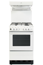 New World NW50THLGWH 50cm White Gas Cooker with High Level Grill