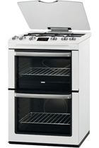 Zanussi ZCG664GWC White Double Oven Gas Cooker