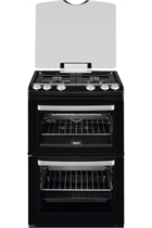 Zanussi ZCG669GN 60cm Black Double Oven Gas Cooker