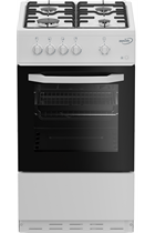 Zenith by Beko ZE501W 50cm White Single Cavity Gas Cooker