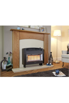 Brown Outset Gas Fire