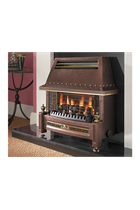 Bronze Hearth Mounted Gas Fire
