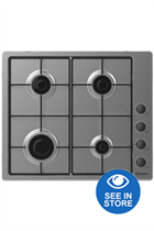 Candy CHW6LBX 60cm Stainless Steel Built-In Gas Hob
