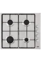 Beko CIHG21SX 60cm Stainless Steel Built-In Gas Hob
