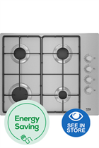 Beko CIHYG21SX 60cm Stainless Steel Built-In Gas Hob