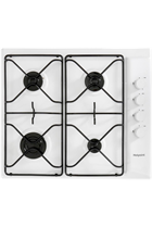 Hotpoint Newstyle PAS642HWH 58cm White Built-In Gas Hob
