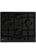 Hotpoint Newstyle PCN642HBK 60cm Black Built-In Gas Hob