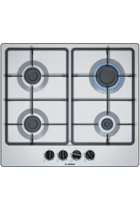 Bosch Serie 4 PGP6B5B60 60cm Stainless Steel Built-In Gas Hob