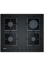 NEFF N70 T26CA42S0 59cm Black Built-In Gas Hob