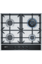 NEFF N70 T26DA59N0 58cm Stainless Steel Built-In Gas Hob