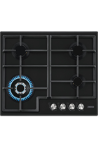 Zanussi ZGH66424BB 60cm Black Built-In Gas Hob