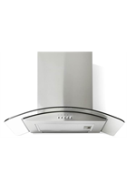 Montpellier CHG603MSS 60cm Curved Glass Cooker Hood