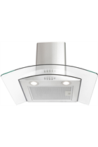 Montpellier CHG613MSS Curved Glass Cooker Hood