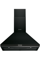 Indesit IHPC6.4LMK Black 60cm Chimney Hood