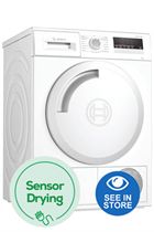 Bosch Serie 4 WTN83201GB White 8kg Condenser Dryer