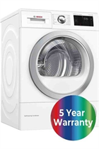 Bosch Serie 6 WTWH7660GB White 9kg Heat Pump Tumble Dryer