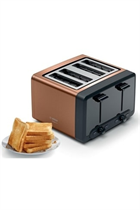 Bosch DesignLine TAT4P449GB Copper 4 Slice Toaster