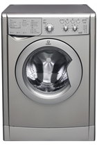Indesit Eco Time IWDC6125S Silver 6kg/5kg 1200 Spin Washer Dryer