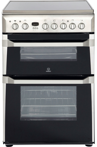 Indesit Advance ID60C2XS 60cm Stainless Steel Double Oven Electric Cooker