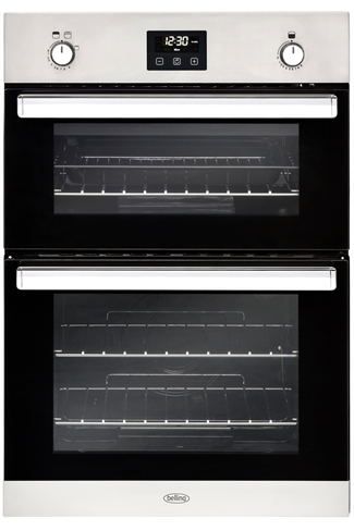 Belling BI902G Stainless Steel Built-In Double Gas Oven