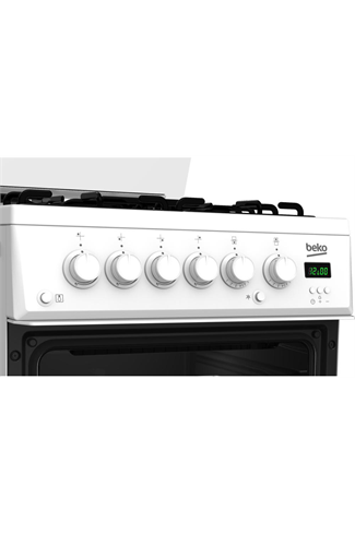 Beko EDG506W Gas Cooker Separate Grill