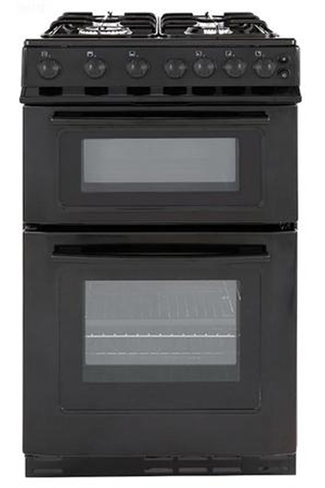 Servis STG500K Twin Cavity Black Gas Cooker