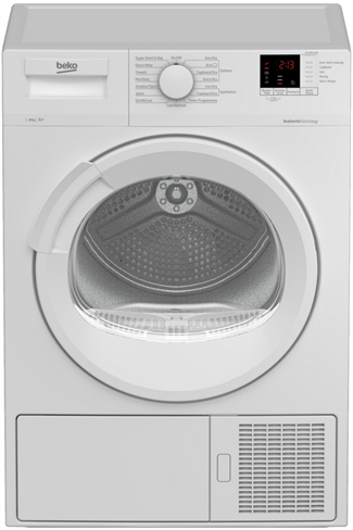 Beko DTLP81141W White 8kg Heat Pump Tumble Dryer